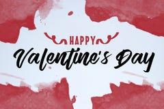 Concepto del día de tarjeta del día de San Valentín del St con el día de tarjeta del día de San Valentín feliz del texto libre illustration