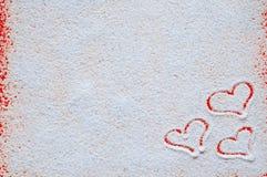 Concepto del día de tarjetas del día de San Valentín con los corazones Imagen de archivo libre de regalías