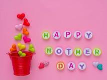 Concepto del día del ` s de la madre Alfabeto FELIZ del DÍA DE LA MADRE Foto de archivo libre de regalías