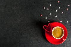 Concepto del día del ` s de la tarjeta del día de San Valentín imagenes de archivo