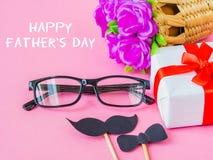 Concepto del día del ` s del padre Mensaje feliz del día del ` s del padre fotografía de archivo