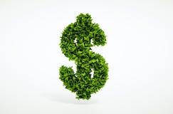 Concepto del dólar de la ecología Foto de archivo