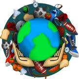 Concepto del d?a de salud de mundo con el fondo healty de la forma de vida