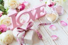Concepto del día de tarjeta del día de San Valentín Foto de archivo libre de regalías