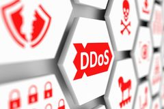 Concepto del DDoS stock de ilustración