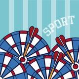 Concepto del deporte de los dardos stock de ilustración