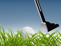 Concepto del deporte del golf Imagen de archivo libre de regalías