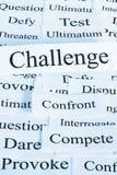 Concepto del desafío Foto de archivo libre de regalías