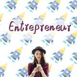 Concepto del desarrollador de Business Risk Startup del empresario Imagen de archivo