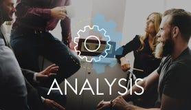 Concepto del desarrollo de la acción de negocio del análisis Fotografía de archivo