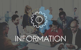 Concepto del desarrollo del análisis de la acción de negocio de información Fotografía de archivo libre de regalías