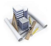 Concepto del desarrollo del edificio stock de ilustración