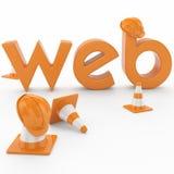 Concepto del desarrollo web Foto de archivo