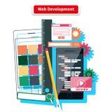 Concepto del desarrollo web Imagen de archivo libre de regalías