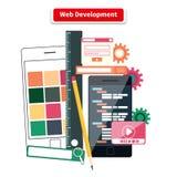 Concepto del desarrollo web Fotografía de archivo