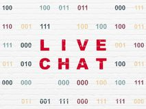 Concepto del desarrollo web: Live Chat en fondo de la pared Foto de archivo libre de regalías