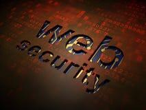 Concepto del desarrollo web: Seguridad del web en fondo de pantalla digital Imágenes de archivo libres de regalías