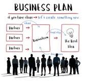 Concepto del diagrama de la estrategia del plan empresarial imagen de archivo