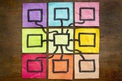 Concepto del diagrama de red Fotografía de archivo libre de regalías