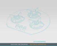 Concepto 01 del dibujo lineal del avellanador del gas stock de ilustración