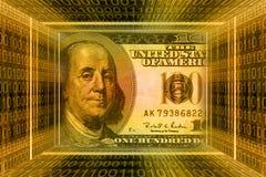 Concepto del dinero, dólares de los E.E.U.U. ilustración del vector