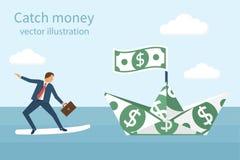 Concepto del dinero de la captura stock de ilustración