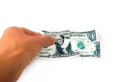 Concepto del dinero de la necesidad fotografía de archivo
