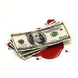Concepto del dinero de sangre Foto de archivo