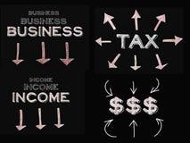 Concepto del dinero del asunto ilustración del vector
