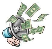 Concepto del dinero del megáfono libre illustration