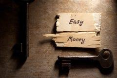 Concepto del dinero fácil imágenes de archivo libres de regalías