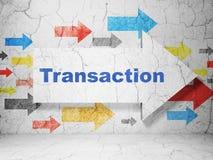 Concepto del dinero: flecha con la transacción en fondo de la pared del grunge libre illustration
