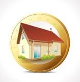 Concepto del dinero - poseer la casa ilustración del vector