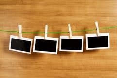 Concepto del diseñador - marcos en blanco de la foto Fotos de archivo