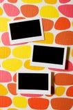 Concepto del diseñador - marcos en blanco de la foto Fotos de archivo libres de regalías