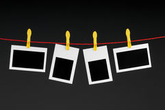 Concepto del diseñador - marcos en blanco de la foto Fotografía de archivo libre de regalías