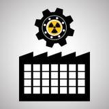 Concepto del diseño, de la planta y de la fábrica de la industria, vector editable Imagen de archivo