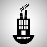 Concepto del diseño, de la planta y de la fábrica de la industria, vector editable Foto de archivo