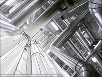 Concepto del diseño de la tubería Fotografía de archivo libre de regalías