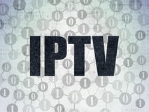 Concepto del diseño web: IPTV en el papel de Digitaces Foto de archivo