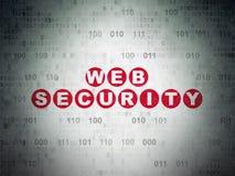 Concepto del diseño web: Seguridad del web en el papel de Digitaces Imágenes de archivo libres de regalías