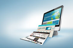 Concepto del diseño web Fotos de archivo