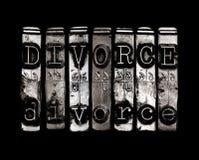 Concepto del divorcio Imagen de archivo libre de regalías