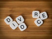 Concepto del divorcio Fotos de archivo libres de regalías