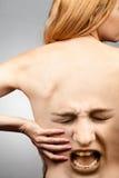 Concepto del dolor de espalda Imágenes de archivo libres de regalías