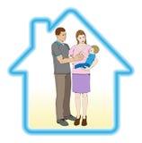 Concepto del domicilio familiar ilustración del vector