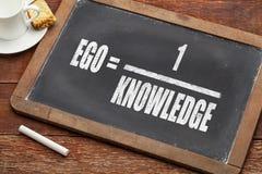 Concepto del ego y del conocimiento Fotografía de archivo libre de regalías