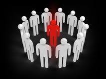 Concepto del ejemplo de infección del virus, gente 3d Imagenes de archivo