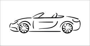 Concepto del ejemplo del vector de ejemplo del icono del coche en el fondo blanco ilustración del vector