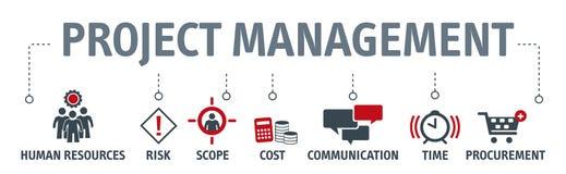 Concepto del ejemplo del vector de la gestión del proyecto stock de ilustración